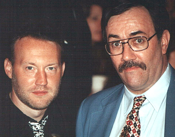 With Stephen Jones, World Fantasy Convention 1994