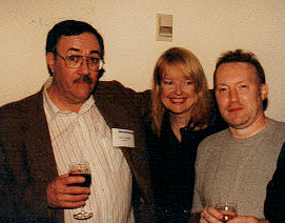 With Jo Fletcher and Stephen Jones, World Fantasy Convention, London 1987